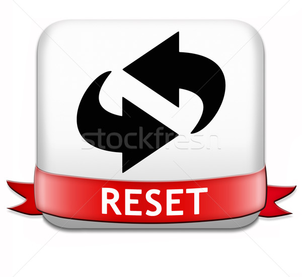 reset button Stock photo © kikkerdirk