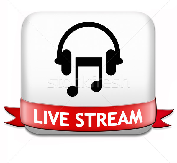 Music live stream button Stock photo © kikkerdirk