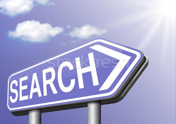 Keresés online információ talál információ internet Stock fotó © kikkerdirk