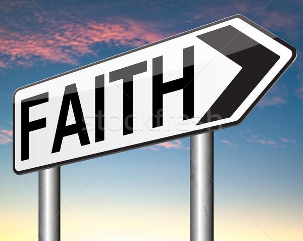 Glauben Vertrauen Glaube Gott jesus christ Stock foto © kikkerdirk