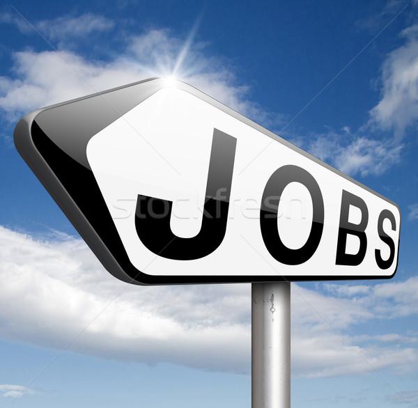 álláskeresés talál állások keresés állás online Stock fotó © kikkerdirk