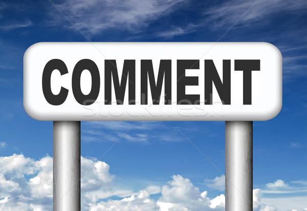 Comentar comentários comentários blog dar Foto stock © kikkerdirk