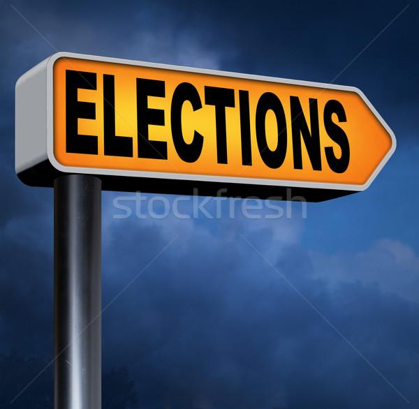 élections nouvelle gouvernement président libre élection Photo stock © kikkerdirk