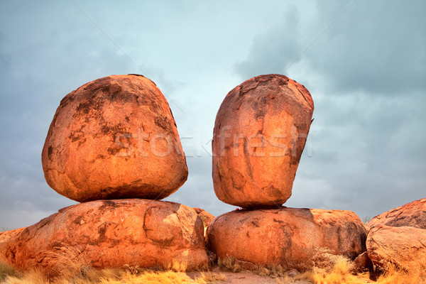 devils marbles Stock photo © kikkerdirk