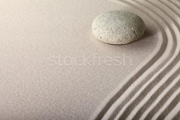 Zen zand steen tuin japans meditatie Stockfoto © kikkerdirk