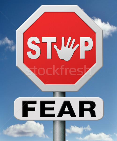Durdurmak korku yılan yükseklik iğneler Stok fotoğraf © kikkerdirk
