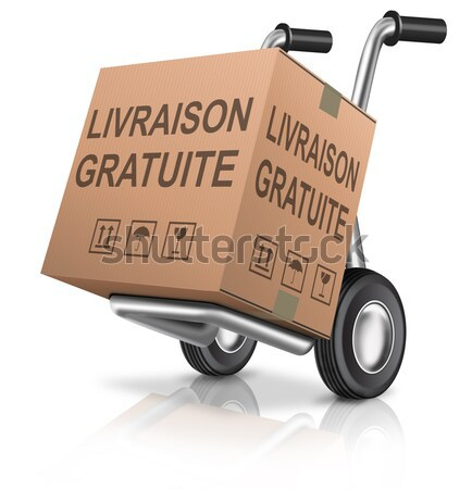 Ingyenes szállítás kartondoboz barna házhozszállítás online internetes vásárlás Stock fotó © kikkerdirk