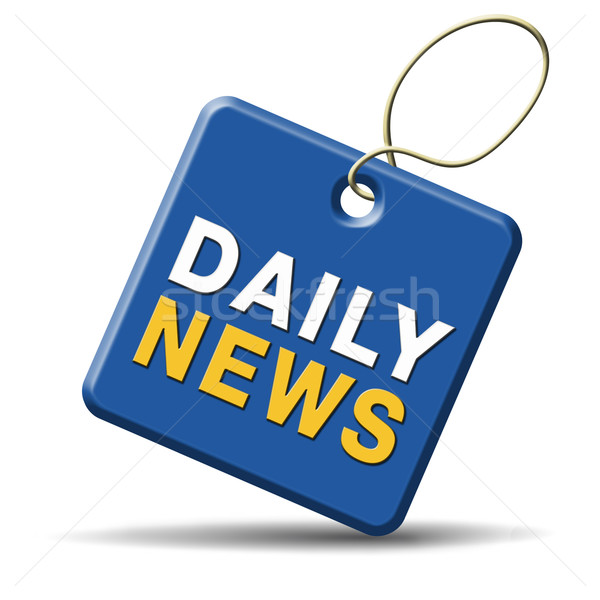 daily news icon Stock photo © kikkerdirk