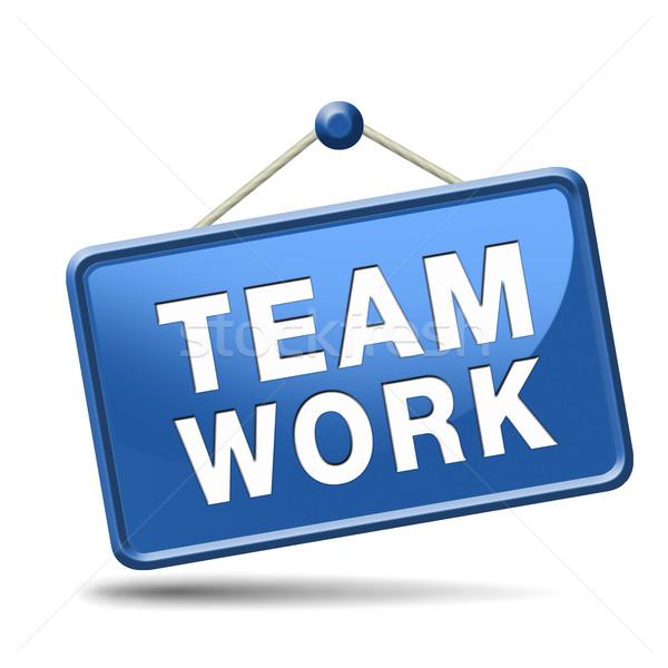 teamwork sign Stock photo © kikkerdirk