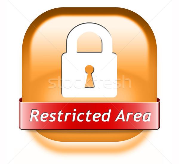 Beperkt lidmaatschap wachtwoord beschermd toegang sleutel Stockfoto © kikkerdirk