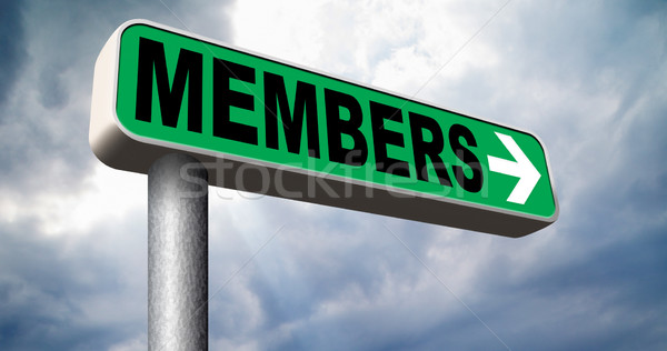 アクセス メンバーシップ 今 にログイン 道路標識 ストックフォト © kikkerdirk