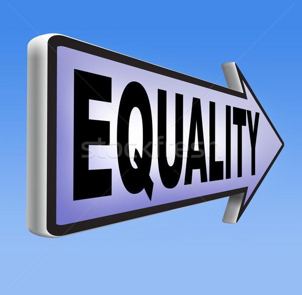 Egyenlőség szolidaritás mindenki egyenlő jogok lehetőségek Stock fotó © kikkerdirk