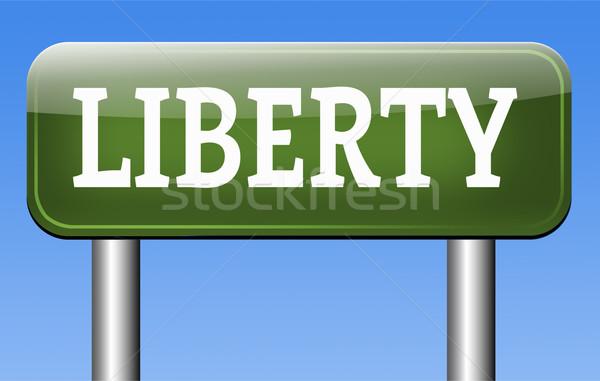 Liberdade liberdade democracia direitos humanos livre discurso Foto stock © kikkerdirk