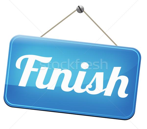 Célszalag befejezés befejezés verseny kijárat ki Stock fotó © kikkerdirk