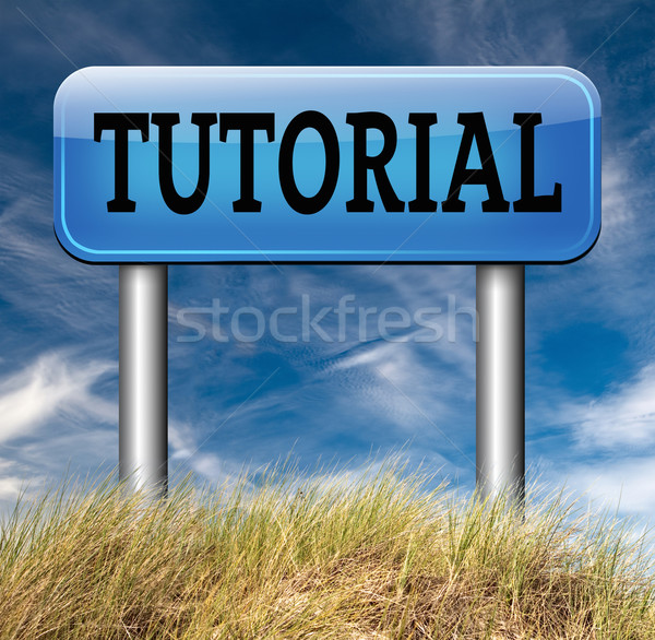Tutorial tanul online videó lecke osztály Stock fotó © kikkerdirk