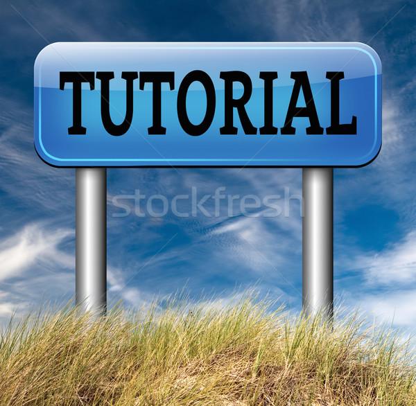 Tutorial imparare online video lezione classe Foto d'archivio © kikkerdirk