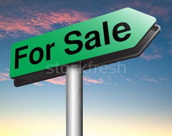 Elad online vásár jelzőtábla internet háló Stock fotó © kikkerdirk