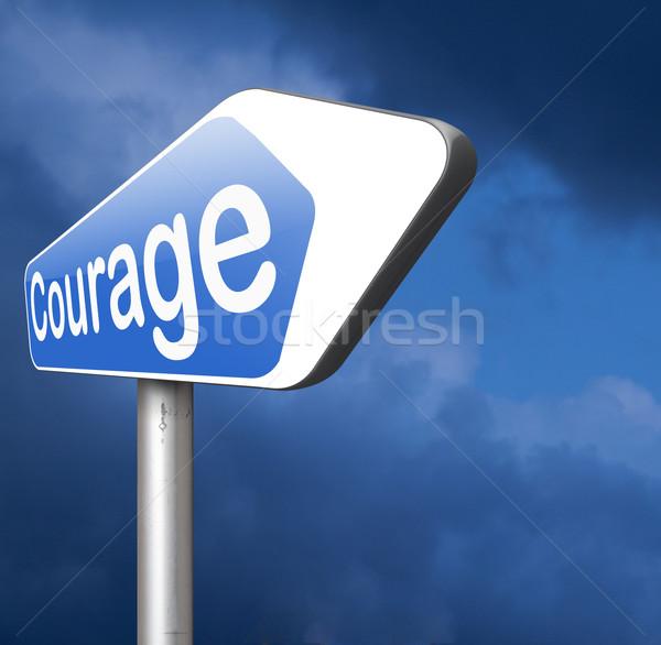 Cesaret cesur yetenek korku ağrı tehlike Stok fotoğraf © kikkerdirk