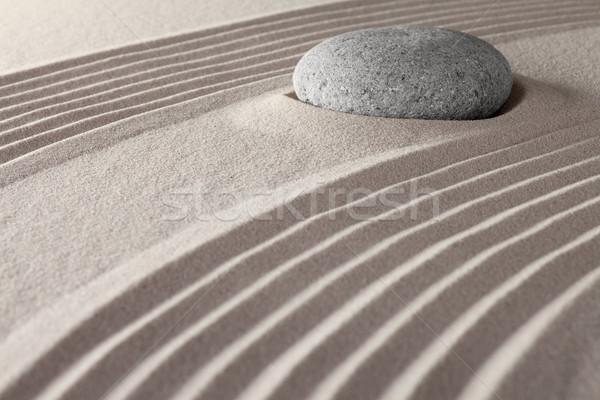Stock fotó: Zen · meditáció · kert · kövek · kövek · vonalak