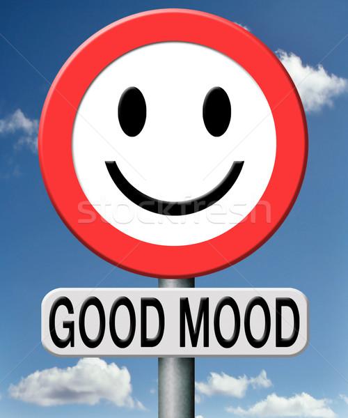 Jó hangulat néz napos oldal élet érzés Stock fotó © kikkerdirk