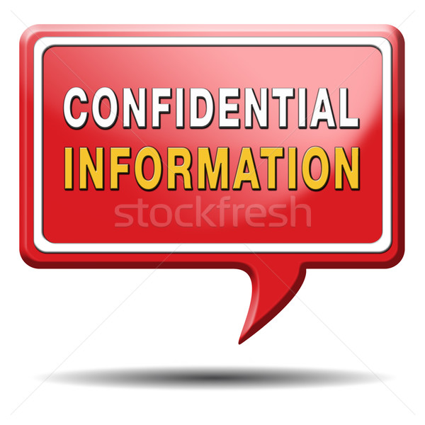 Confidencial informação topo segredo vermelho Foto stock © kikkerdirk