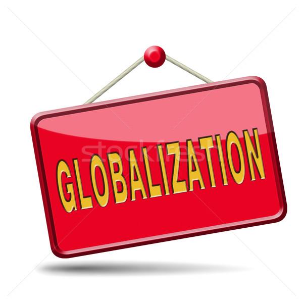 Globalização global abrir mercado internacional mundial Foto stock © kikkerdirk