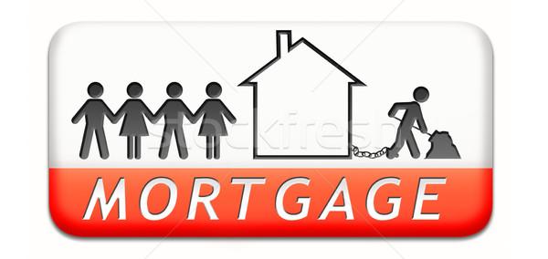 Hypothek Haus Darlehen zahlen Geld zurück Stock foto © kikkerdirk