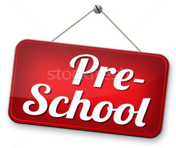 Edukacji przedszkole przedszkole szkoły podpisania Zdjęcia stock © kikkerdirk
