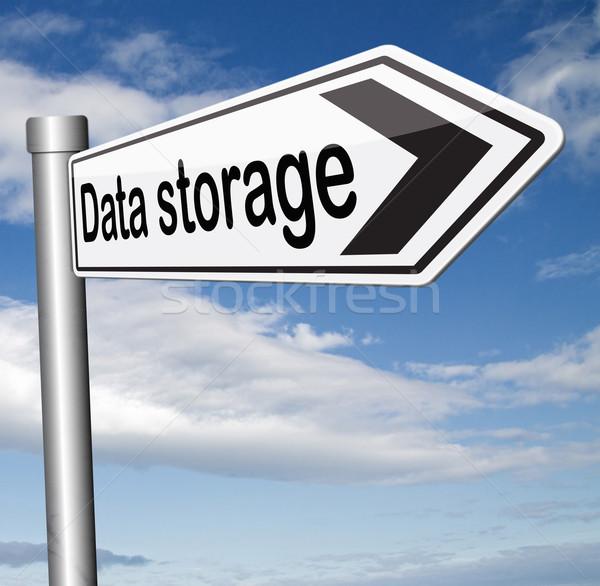 Armazenamento de dados arquivo documento gestão banco de dados mineração Foto stock © kikkerdirk