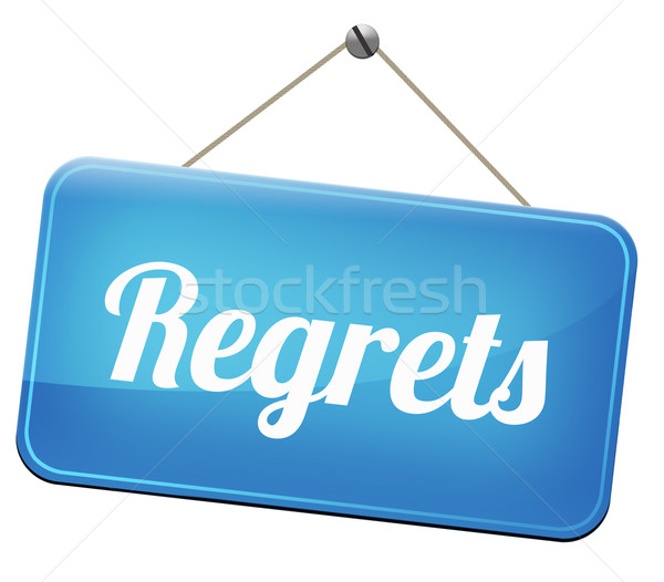 regrets sign Stock photo © kikkerdirk