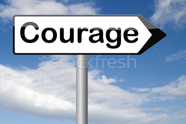 Coragem destemido capacidade medo dor perigo Foto stock © kikkerdirk