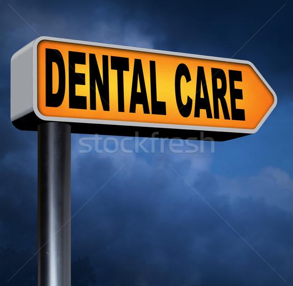 Fogápolás fogászati egészségügy központ orális higiénia Stock fotó © kikkerdirk