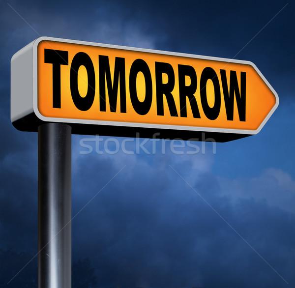 Morgen volgende dag banner binnenkort wat Stockfoto © kikkerdirk