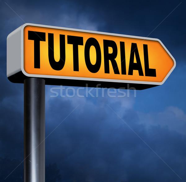 Tutorial aprendizagem aprender on-line vídeo lição Foto stock © kikkerdirk