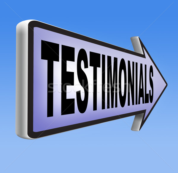 testimonials Stock photo © kikkerdirk