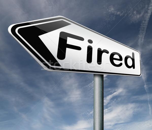 Bő állás veszteség munka állásnélküli munkás Stock fotó © kikkerdirk