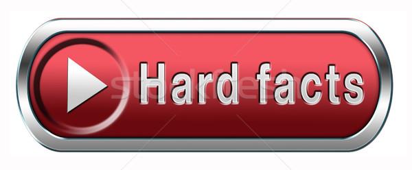Fatos prova científico fato botão ícone Foto stock © kikkerdirk