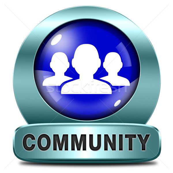 Gemeenschap lokaal menselijke groep mensen samen sociale Stockfoto © kikkerdirk