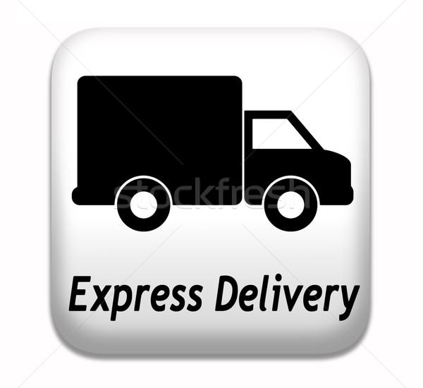 Express livraison de colis livraison express paquet expédition ligne Photo stock © kikkerdirk