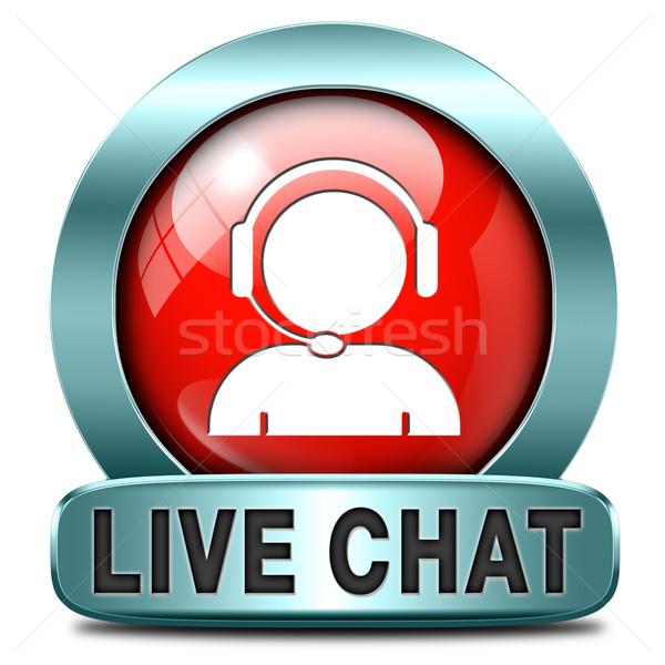live chat Stock photo © kikkerdirk
