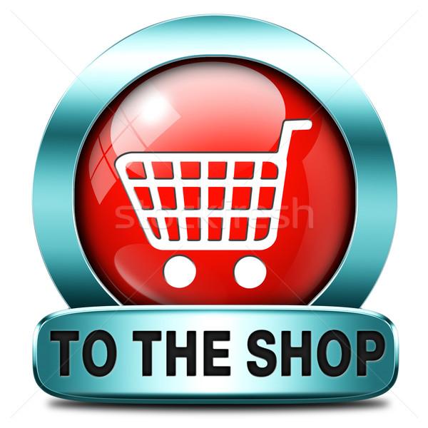 Winkel nu teken online webshop knop Stockfoto © kikkerdirk