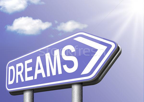 Dromen droom teken toekomst Stockfoto © kikkerdirk