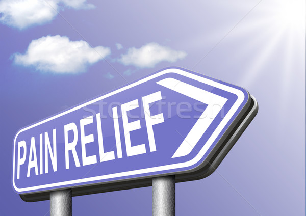 Ból ulga zarządzania medycznych pomoc tekst Zdjęcia stock © kikkerdirk