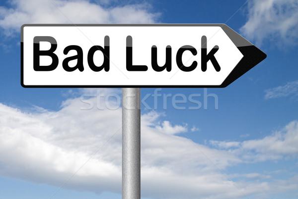 Slechte geluk ongeluk ongelukkig dag teken Stockfoto © kikkerdirk