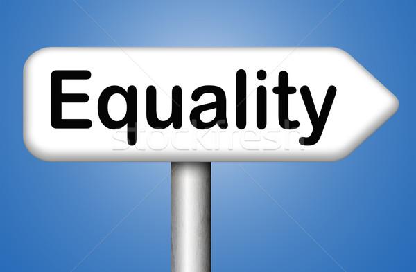 Egyenlőség összes szolidaritás egyenlő jogok lehetőségek Stock fotó © kikkerdirk