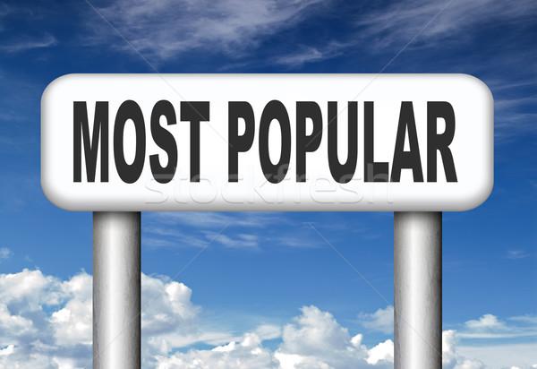 Popularny pop wykresy najlepszy Zdjęcia stock © kikkerdirk
