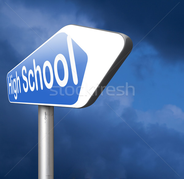 Escola secundária educação escolha pesquisar encontrar bom Foto stock © kikkerdirk