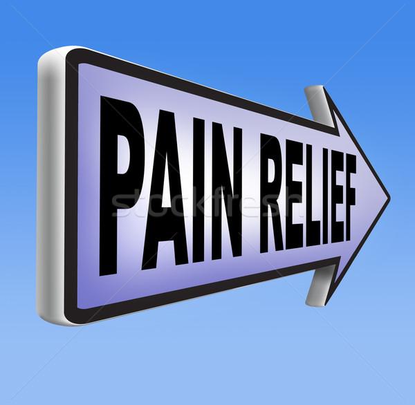 Ból ulga zarządzania środek przeciwbólowy migrena Zdjęcia stock © kikkerdirk