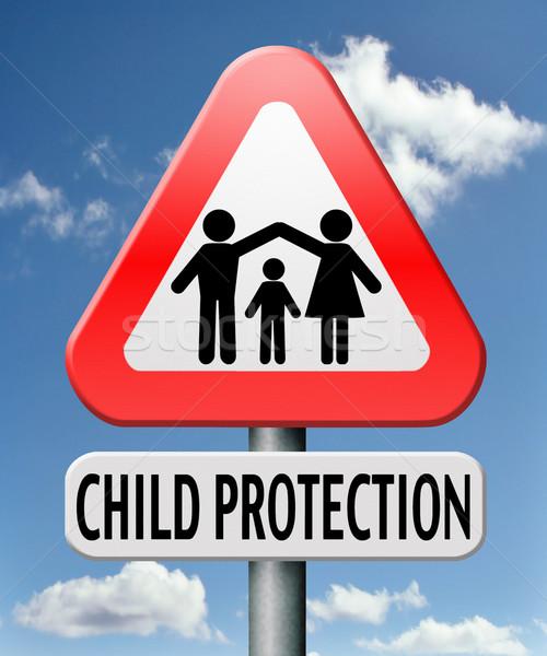 ребенка защиту ухода давать детей безопасной Сток-фото © kikkerdirk