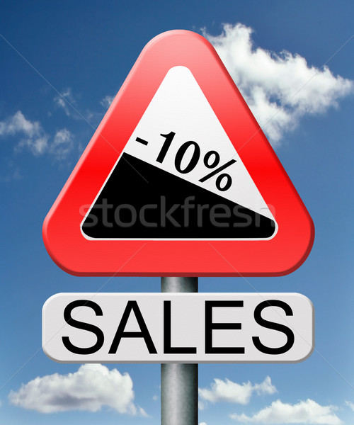 Satış 10 satış kış yaz Stok fotoğraf © kikkerdirk